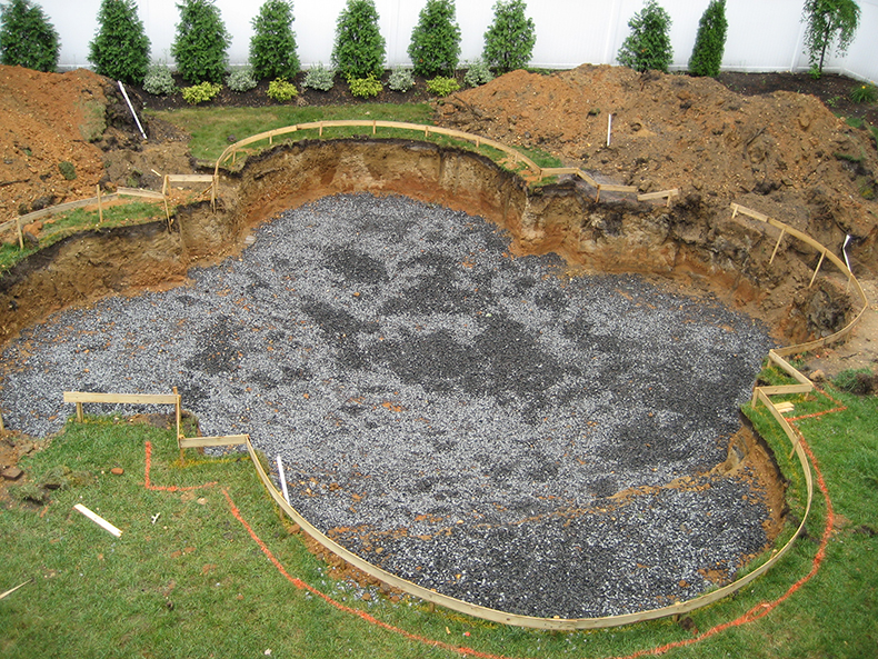 Gunite Pool Construction Process