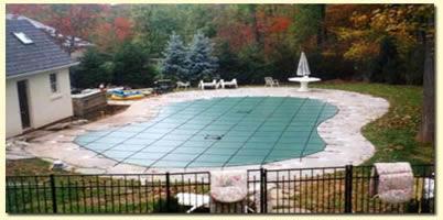 Inground pool safety cover fencing landi pools games for Inground swimming pool safety covers