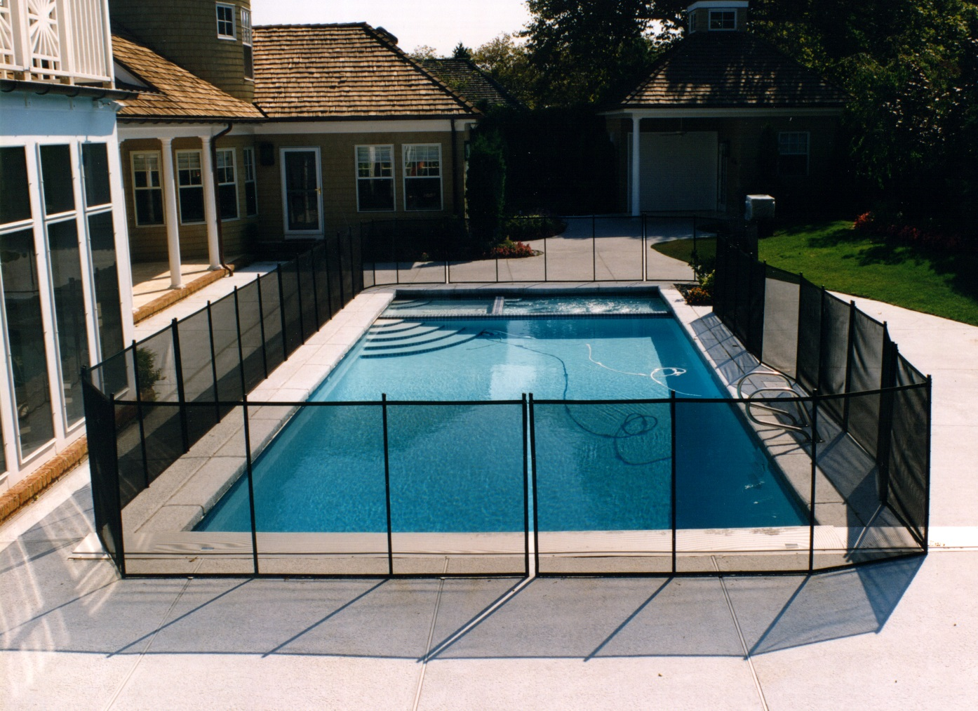 Inground Pool Safety Cover Fencing Landi Pools Amp Games