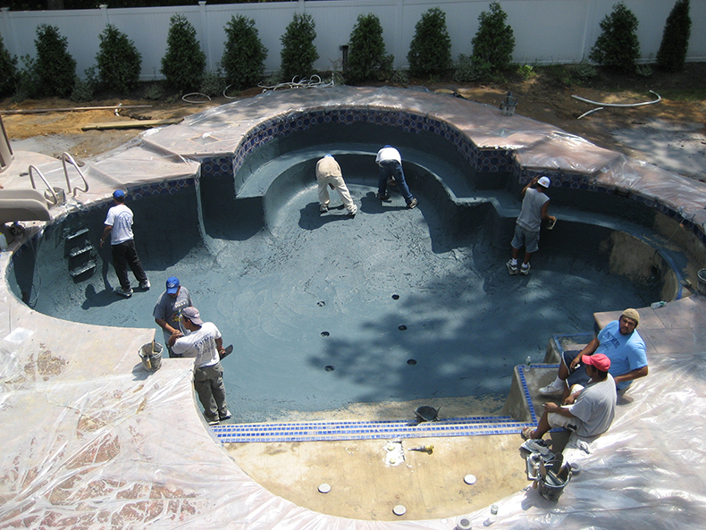 Gunite pool construction process south jersey 39 s best - Swimming pool construction process ...