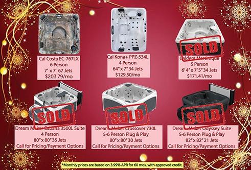 Holiday Hot Tub Sale!