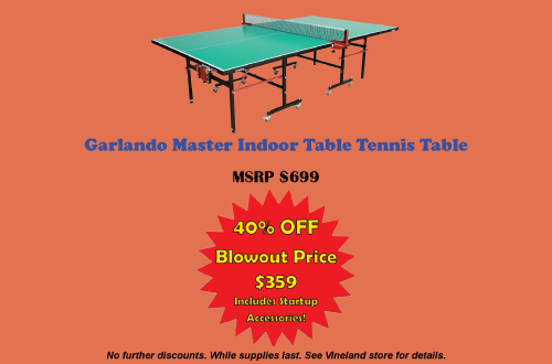 Fall Ping Pong Blowout Sale